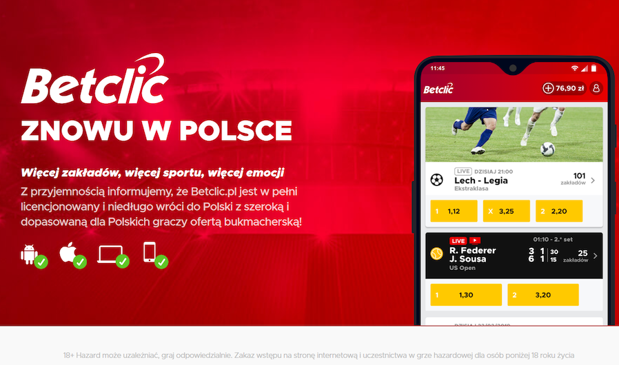 betclic polska licencja online